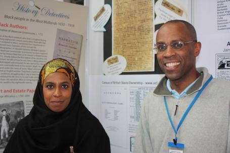 HIS AND HER STORY: Carlston Walters and Ayshah Johnston, of the Caribbean Family History Group Solihull and Birmingham, at the Who Do You Think You Are exhibition