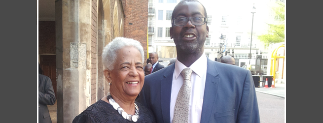 Cllr Patrick Vernon with Baroness Howells of St David